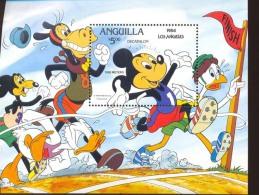 ANGUILLA   568  MINT NEVER HINGED SOUVENIR SHEET OF OLYMPICS , LOS ANGELES 1984 DISNEY   #  006 - Disney