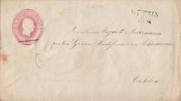 Preussen GS-Umschlag 1 Sgr. L2 Wettin 13.4. - Norddeutscher Postbezirk