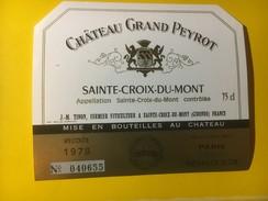 2903 - Château Grand Peyrot 1978 Sainte-Croix-du-Mont - Bordeaux