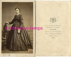 CDV-mode Second Empire-portrait De Femme-photographe Semah-palais Royal à Paris - Photos