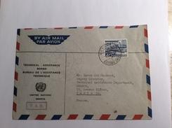Schweiz UNO NATIONS UNIES Dienstmarke Znr 8 GENÉVE 1952 Auf Brief T.A.B = TECHNICAL ASSISTANCE BOARD (lettre Cover