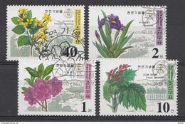 Corée Du Nord 2001  Mi.nr: 4473-4476 Geschützte Pflanzen  Oblitérés / Used / Gest. - Korea (Nord-)