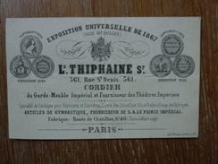 PARIS,L.THIPHAINE , FOURNISSEUR DE SON ALTESSE LE PRINCE  IMPERIAL - Visiting Cards