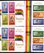 Jeux Olympiques De Montréal, BF 90-91-90A-91A**, Cote 93 €, - 1970-79: Neufs