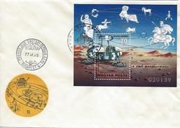 HUNGARY - 1977.FDC S/S - Space Explorations(Sputnik,Viking)/ Viking On Mars  MNH! Mi:Bl.125. - FDC