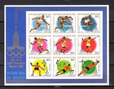 1980   Olympiques De Moscou, BF 111 A**, Non Dentelé  Cote 50 €, - 1970-79: Mint/hinged