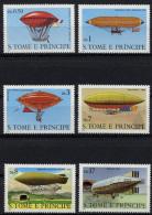 Sao Tome E Principe, 1979, Balloons, Zeppelin, History Of Aviation, MNH, Michel 626-631 - Sao Tome En Principe