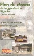LIÈGE -TEC - PLAN DU RESEAU DE L'AGGLOMERATION LIÈGEOISE - 2000. - Europe
