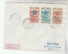 1957 MOROCCO  FDC Stamps CASABLANCA INTERNATIONAL FAIR Cover - Morocco (1956-...)