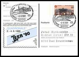 96897) BRD - SoST 2000 HAMBURG 1 Vom 02.06.1991 Auf PSo 21 - Beginn Des ICE-Zeitalters - [7] Federal Republic