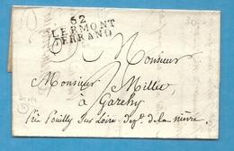 Puy De Dome - Clermont Ferrand Pour Garehy Près Pouilly Sur Loire (Nièvre) - Marcophilie (Lettres)