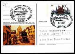 96909) BRD - SoST 6800 MANNHEIM 1 Vom 31.05.1991 Auf PSo 23 - Eröffnung Der Neubaustrecke -Stuttgart, ICE - [7] Federal Republic