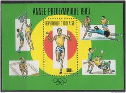 Togo, 1984, Olympic Summer Games Los Angeles, MNH, Michel Block 201 - Togo (1960-...)