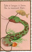 1er Avril - Serpent, Tête Et Langue à Venin On Te Reconnait Bien - 1er Avril - Poisson D'avril