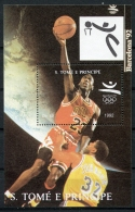 Sao Tome E Principe, 1992, Olympic Games Barcelona, Basketball, MNH, Michel Block 277 - Sao Tomé E Principe