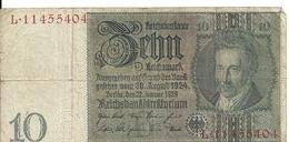 ALLEMAGNE 10 REICHMARK 1929 VF P 180 - [ 3] 1918-1933 : Weimar Republic