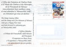 """Timbre* De 2006 Sur CP """"MecanoPhil 2006"""" - Monaco"""