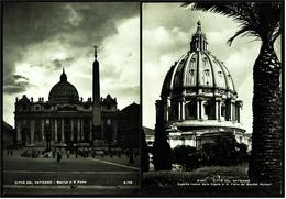 2 X Vatikanstadt  - Peterskirche / S. Pietro -  Prachtvoller Anblick Der Peterskuppel  -  Ansichtskarten Ca.1970  (6308) - Vatikanstadt