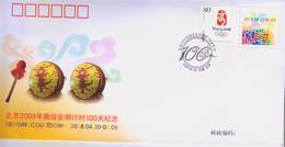 China PFTN.AY-14 100-day Countdown To The BeiJing 2008 Olympic Games-Commemorative Cover - Summer 2008: Beijing