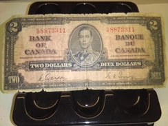 CANADA 1937 $2 KING P-59b RARE BANKNOTE LOC#A1458 - Kanada