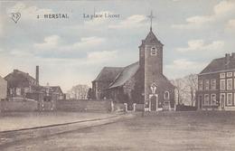 Herstal - La Place Licour (Edition A. Scheers, Colorisée) - Herstal