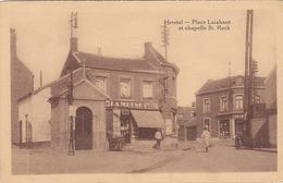 Herstal - Place Laixhaut Et Chapelle Saint-Rock (animation, Librairie, Légia, 1937) - Herstal