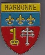 Pin´s Armoiries Armoirie Blason  Héraldique écusson Ecu De La Commune De Narbonne  (11)  Aude épinglette Pins Pin S - Cities
