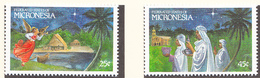 MICRONESIE - 1989  - Noël - Yvert  131/132 Neufs ** - Micronésie