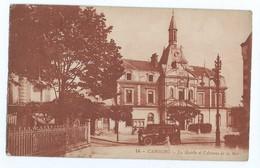 539 - Cabourg (14) - La Mairie Et L´ Avenue De La Mer - Semeuse 20c - Circulée Pour Paris Bauer Voiture - Cabourg