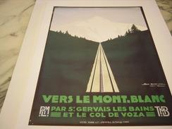 ANCIENNE PUBLICITE ART DECO DE GEO DORIVAL   LE MONT.BLANC (tmb &plm ) 1928 - Ferrovie
