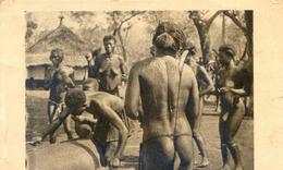 Afrique Equatoriale Francaise - Oubangui Chari - Femmes Au Tam Tam - Scarifications - Postales