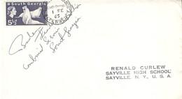 South Georgia Georgie Du Sud 1 February 1965 British Expedition Signed Grave Shackleton Signé Leader M K Burley - Territoire Antarctique Britannique  (BAT)