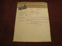 Lettre BONNEAU LASSERY BOURGES Machine à Fabriquer Les Sabots 1930 - 1900 – 1949