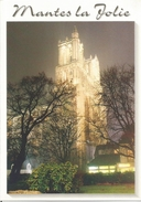 MANTES-LA-JOLIE. Collégiale Notre-Dame, Illuminée.  (scan Verso). - Mantes La Jolie