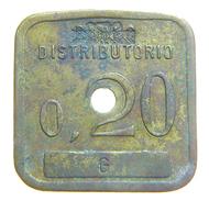 [NC] ITALIA - GETTONI MONETALI 1938 - SOCIETA ANONIMA NAZIONALE COGNE - 0,2 LIRE - Monetari/ Di Necessità