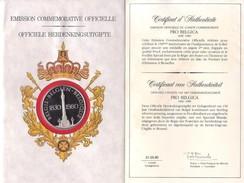 Médaille Commémorative Officielle 1830 - 1980 - Medals