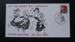 Lettre Cover Danse Costume Félibrée Du Limousin Pierre Buffière Haute Vienne 1980 - Tanz