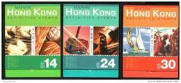 Hong Kong Carnets 2002 Serie Courante C1031a C1035a C1037a ( Violon - Pain - Voilier ) - 1997-... Région Administrative Chinoise