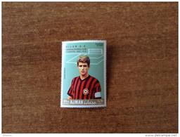 AJMAN  1969  Soccer Football  FC Milan  1v. With Red Overprint  Perf. Rare! - Berühmte Teams
