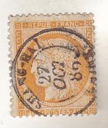 N°38  40 Centimes Oblitéré Cachet à Date Shang Hai (Chine). 1889. Peu Courant. TTB. - 1870 Siège De Paris