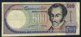 VENEZUELA  P67d  500  Bolívars 1990   FINE Folds No P.h. ! - Venezuela