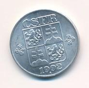 Tschechoslowakei CSFR 1992 10 Heller Rückseite: Wappen - Czechoslovakia