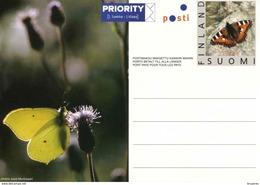 """Entier Postal De Finlande De 2003 Sur Carte Postale Avec Timbre Et Illust. """"Papillon"""" - Papillons"""