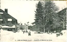 39 LES ROUSSES  Place De La Mairie En Hiver - France