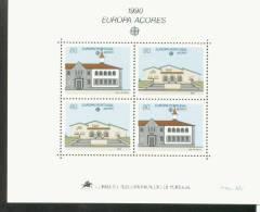 CEPT Postalische Einrichtungen Acores Block 11 Postamt Vasco Da Gama MNH ** Postfrisch - Europa-CEPT