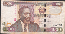 KENYA P51a  1000 SHILLINGS  1.6.2005 FIRST DATE ! FINE Folds No P.h. ! - Kenia