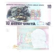 Prova Di Stampa Del Poligrafico Tipo Rossini Senza Effige 10 Unità LOTTO 605 - [ 2] 1946-… : Republiek