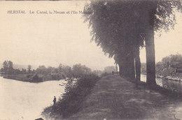 Herstal - Le Canal, La Meuse Et L'Ile Moncin (petite Animation, Edit Vandeven) - Herstal