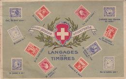 Union Postale Universelle / Langages Des Timbres /Blason Suisse / . Non écrite. Ed. Perrochet Matile Lausanne - Timbres (représentations)