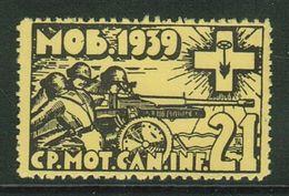 Suisse // Schweiz // Switzerland // Vignette Militaire 1939-45 // Artillerie,Cp.Mot.Can.Inf. 21 No.152 - Soldaten Briefmarken
